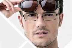 Модная оправа солнцезащитных очков с «диоптриями»