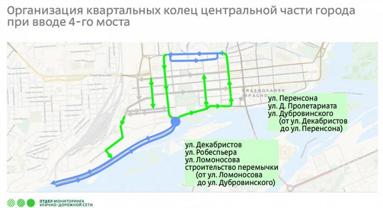 Схема движения четвертого моста в Красноярске фото 10
