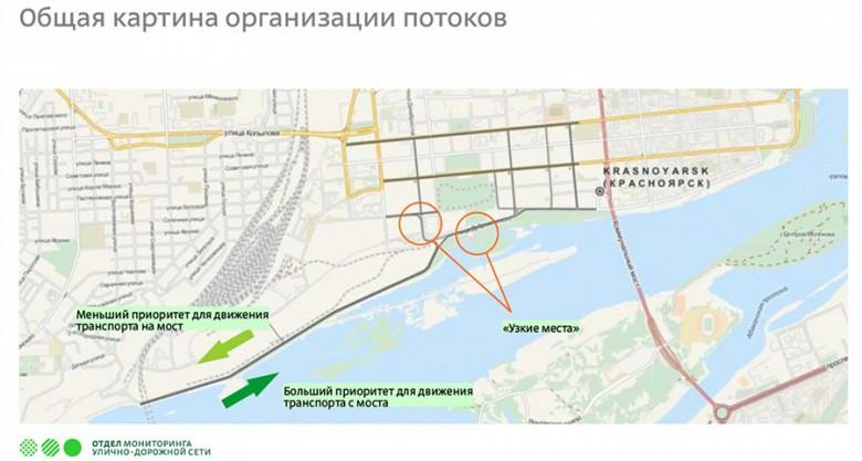 Схема движения четвертого моста в Красноярске фото 3