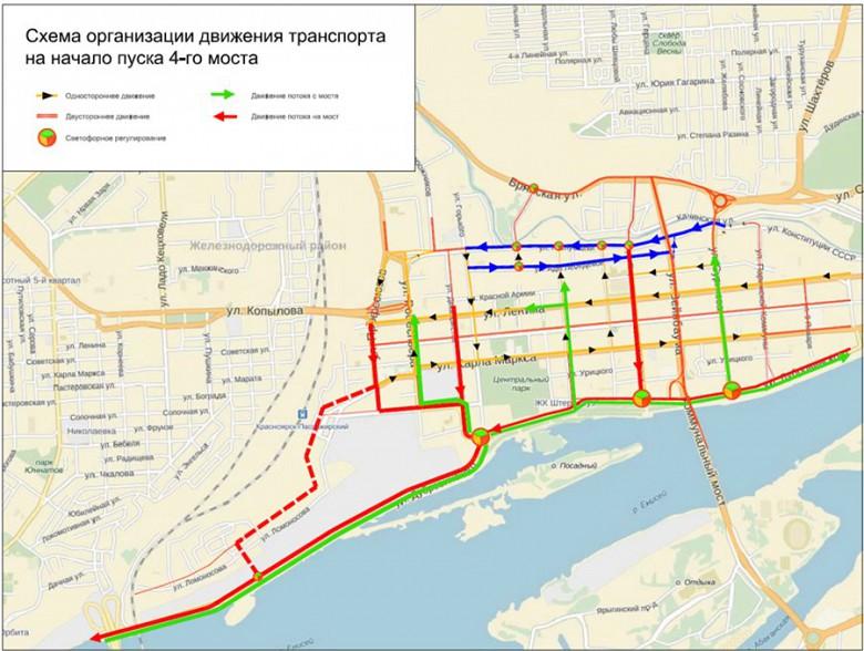 Схема движения четвертого моста в Красноярске фото 2