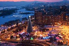 Где и когда открытие главной елки Красноярска 2015-2016
