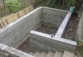 Монтаж погреба готовая железобетонная конструкция.
