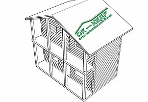 Дачный домик из бруса на ленточном фундаменте всего 299 000 руб.