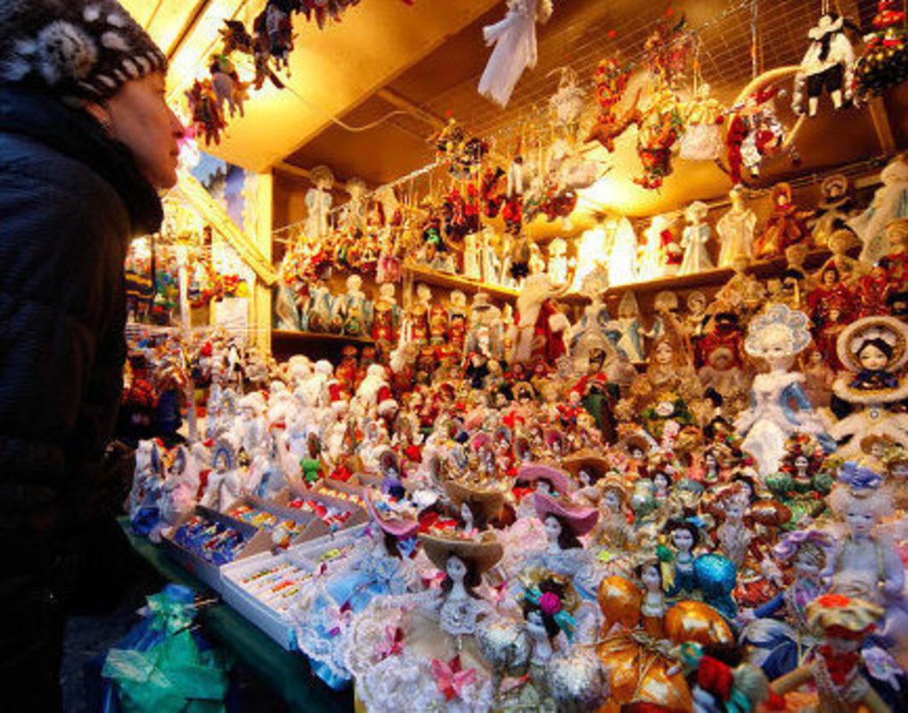 В центре Красноярска заработают новогодние базары