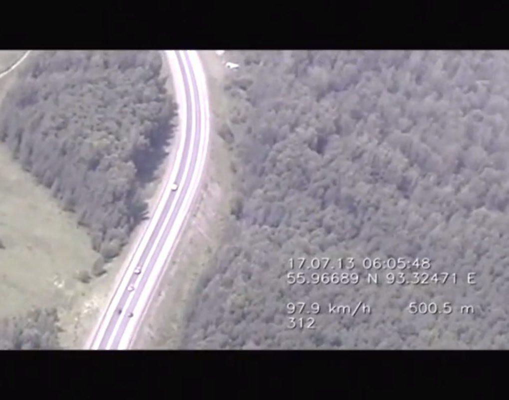 За лихачами на красноярских трассах будут следить дроны