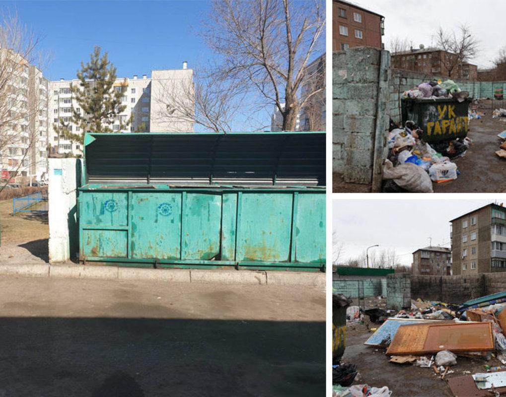 Левому берегу Красноярска не хватает мусорных контейнеров
