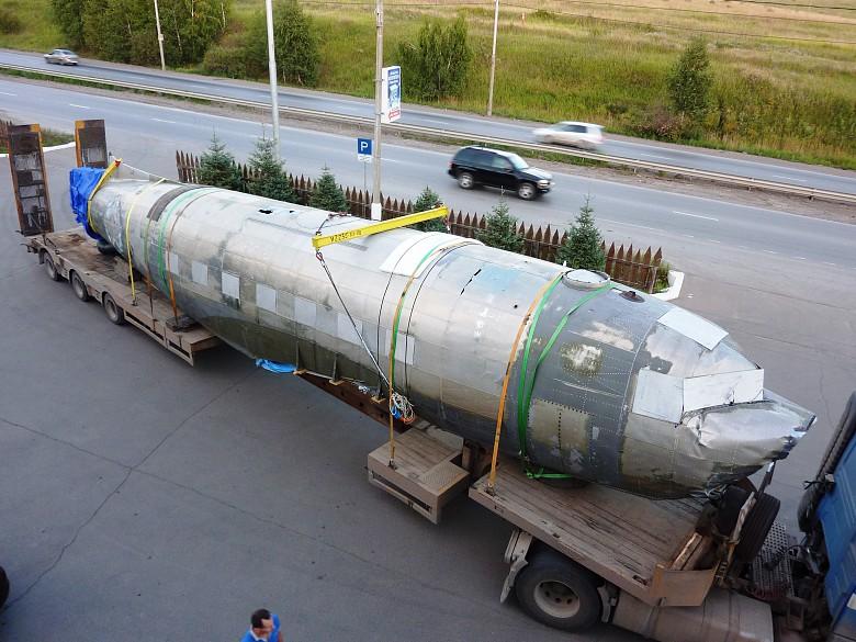 Самолет привезли в Красноярск