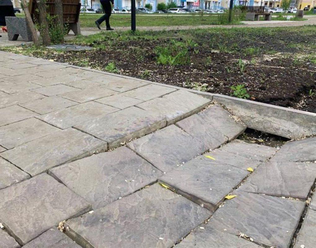 Три разрушенных сквера в Красноярске отремонтируют по гарантии