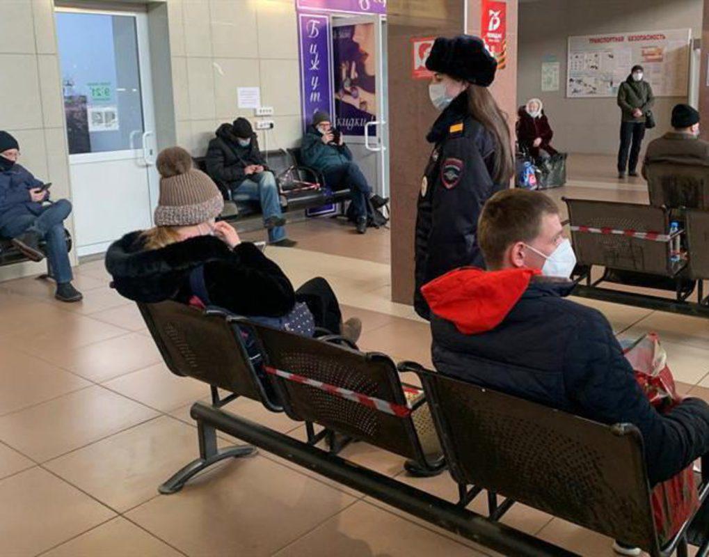 Красноярский автовокзал поверили на соблюдение противоковидных мер