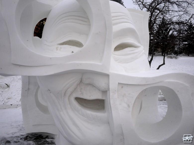 III МЕСТО в номинации «СНЕГ» — скульптура «Старость в радость», созданная командой «Muusuus» из Якутии.
