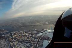 Вид на Красноярск из кабины истребителя