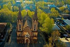 Ролик с кадрами летнего Красноярска с воздуха